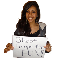 shoot hoops for fun!